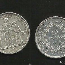Monedas antiguas de Europa: PLATA-FRANCIA. 10 FRANCS 1970. 25 GRAMOS DE LEY 0,900. Lote 105296539