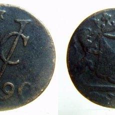 Monedas antiguas de Europa: MONEDA DE UN DUIT 1790 INDIAS HOLANDESAS HOLANDA. Lote 105568523