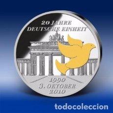 Monedas antiguas de Europa: MONEDA CONMEMORATIVA DE 20 AÑOS UNIDAD ALEMANA.. Lote 105615243