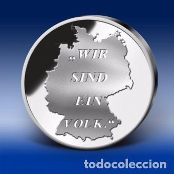 Monedas antiguas de Europa: MONEDA CONMEMORATIVA DE 20 AÑOS UNIDAD ALEMANA. - Foto 2 - 105615243