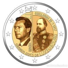 Monedas antiguas de Europa: LUXEMBURGO 2 EURO 2017 S/C 200º ANIV. DEL NACIMIENTO DEL GRAN DUQUE GUILLERMO III. Lote 143243780