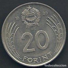 Alte Münzen aus Europa - HUNGRÍA - 20 FORINT 1989 - MUY EBC - VISITA MIS OTROS LOTES Y AHORRA GASTOS DE ENVÍO - 105963739