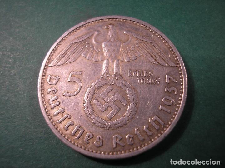 Monedas antiguas de Europa: 5 Reichsmark 1937 A Hindenburg / Tercer Reich 5 marcos plata - Foto 2 - 106030163