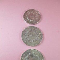 Monedas antiguas de Europa: LOTE 3 MONEDAS-50 FRANCS 1976-50 FRANCS 1977-10 FRANCS 1966-REPÚBLICA FRANCESA-EXCELENTE ESTADO. Lote 106100895