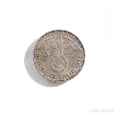 Monedas antiguas de Europa: ALEMANIA.- 2 MARCOS 1938. III REICH - PLATA - CRUZ GAMADA - ESVASTICA. Lote 136594556