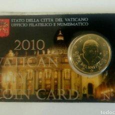 Monedas antiguas de Europa: MONEDA VATICANO 50 CÉNTIMOS CARTERA 2010 NÚMERO 1. Lote 107256831