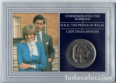 MONEDA DEL CASAMIENTO DE DIANA Y CHARLES AÑO 1981 ROYAL MINT. (Numismática - Extranjeras - Europa)