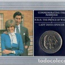 Monedas antiguas de Europa: MONEDA DEL CASAMIENTO DE DIANA Y CHARLES AÑO 1981 ROYAL MINT.. Lote 107365823
