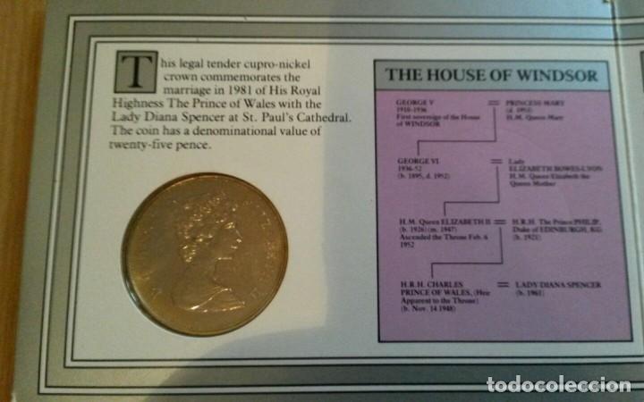 Monedas antiguas de Europa: MONEDA DEL CASAMIENTO DE DIANA Y CHARLES AÑO 1981 ROYAL MINT. - Foto 4 - 107365823