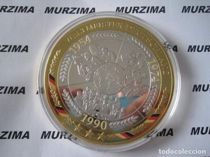 MONEDAS XXL FUTBOL ALEMAN AÑO 1954 - 1974 - 1990. (Numismática - Extranjeras - Europa)