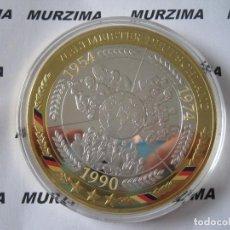 Monedas antiguas de Europa: MONEDAS XXL FUTBOL ALEMAN AÑO 1954 - 1974 - 1990.. Lote 107368839