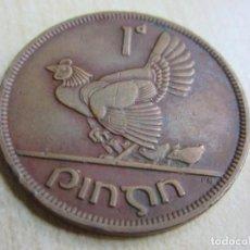 Monedas antiguas de Europa: BONITA ANTIGUA MONEDA DE 1 PENNY DE IRLANDA 1948. Lote 107633519