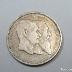 Monedas antiguas de Europa: 1 FRANCO. LEOPOLDO I LEOPOLDO II. BELGICA. PLATA. INDEPENDENCE. Lote 107687255