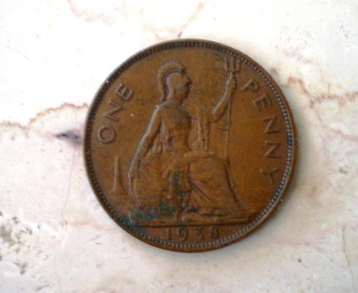 Monedas antiguas de Europa: 0NE PENNY 1938 GEORGIUS VI - Foto 2 - 108276047