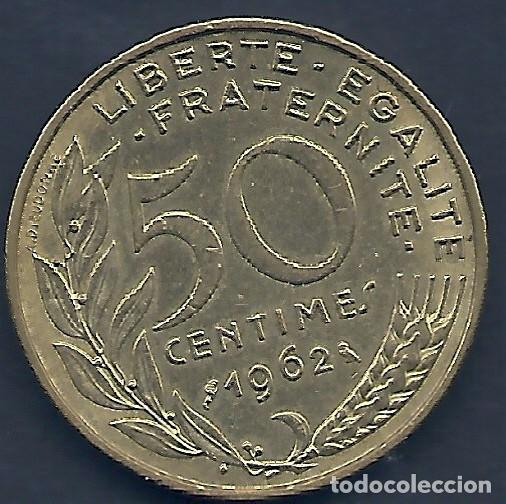 FRANCIA - 50 CENTIMES 1962 - MUY EBC - PK 231.A - VISITA MIS OTROS LOTES Y AHORRA GASTOS DE ENVÍO (Numismática - Extranjeras - Europa)