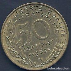Alte Münzen aus Europa - FRANCIA - 50 CENTIMES 1962 - MUY EBC - PK 231.A - VISITA MIS OTROS LOTES Y AHORRA GASTOS DE ENVÍO - 108391839
