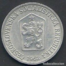 Monedas antiguas de Europa: CHECESOVAQUIA - 10 HALERU 1962 - ALU - SC - PK 56.1 - VISITA MIS OTROS LOTES Y AHORRA GASTOS. Lote 108392535