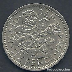 Monedas antiguas de Europa: GRAN BRETAÑA - 6 PENCE 1964 - EBC - PK 389 - VISITA MIS OTROS LOTES Y AHORRA GASTOS. Lote 108392811