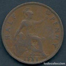 Monedas antiguas de Europa: GRAN BRETAÑA - 1/2 PENNY 1931 - EBC - PK 312 - VISITA MIS OTROS LOTES Y AHORRA GASTOS. Lote 108393439