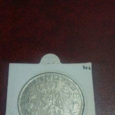 Monedas antiguas de Europa: MONEDA PLATA BÉLGICA 5 FRANCOS 1869. Lote 108432774