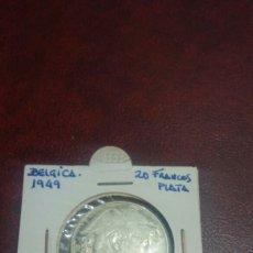 Monedas antiguas de Europa: MONEDA PLATA BÉLGICA 1949 20 FRANCOS. Lote 108432999