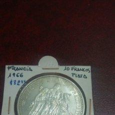 Monedas antiguas de Europa: MONEDA PLATA FRANCIA 10 FRANCOS 1966. Lote 108433984