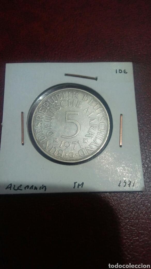 MONEDA PLATA ALEMANIA 5 MARCOS 1971 (Numismática - Extranjeras - Europa)