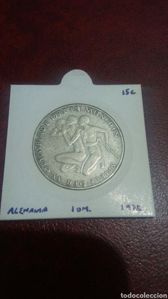 MONEDA PLATA ALEMANIA 10 MARCOS 1972 (Numismática - Extranjeras - Europa)