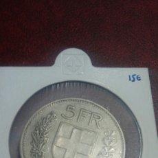 Monedas antiguas de Europa: MONEDA PLATA ZUIZA 5 F. 1933. Lote 108450476