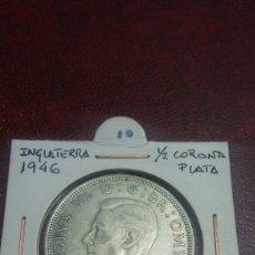 Monedas antiguas de Europa: MONEDA PLATA GRAN BRETAÑA 1/2 CORONA 1946. Lote 108519586