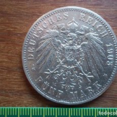 Monedas antiguas de Europa: 5 MARCOS (MARK) ALEMANIA 1903 A PLATA. Lote 108836559