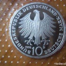 Monedas antiguas de Europa: 10 MARK ALEMANIA 1992 D PLATA PROOF. Lote 108898883