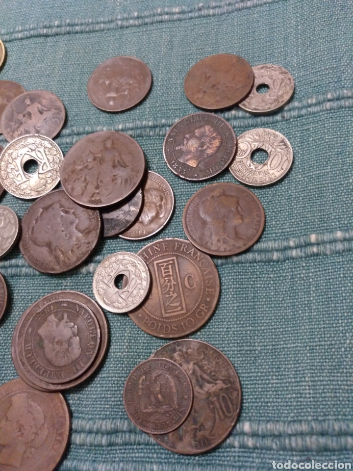Monedas antiguas de Europa: Barato lote de 41 monedas diversas de Francia - Foto 4 - 108909174