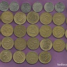 Monedas antiguas de Europa: FINLANDIA. 33 MONEDAS DE 50 PENNIA, 33 FECHAS , 2 MODELOS. Lote 108973671