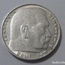 Monedas antiguas de Europa: MONEDA D PLATA 2 MARCOS 1937 CECA D, ALEMANIA NAZI, MARISCAL PAUL VON HINDENBURG, ESCASA. Lote 109016759