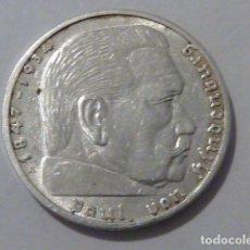 Monedas antiguas de Europa: MONEDA D PLATA 2 MARCOS 1939 CECA A, ALEMANIA NAZI, MARISCAL PAUL VON HINDENBURG. Lote 109070975