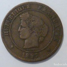 Monedas antiguas de Europa: MONEDA DE 5 CENTIMOS DE FRANCO DE 1897 DE FRANCIA DIOSA CERES, CECA PARIS, ESCASA. Lote 109118299