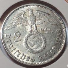 Monedas antiguas de Europa: ALEMANIA 2 MARCOS 1938 B GOBIERNO NAZI ESVÁSTICA.PLATA. Lote 109216447