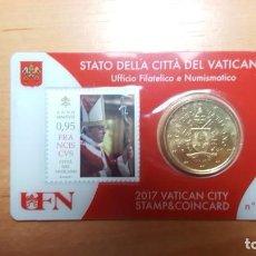 Monedas antiguas de Europa: VATICANO 2017 SELLO + COIN CARD EURO - Nº 14. Lote 194528513