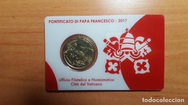 Monedas antiguas de Europa: VATICANO 2017 Sello + coin card euro - nº 14 - Foto 2 - 194528513