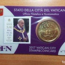 Monedas antiguas de Europa: VATICANO 2017 SELLO + COIN CARD EURO - Nº 17. Lote 194528501