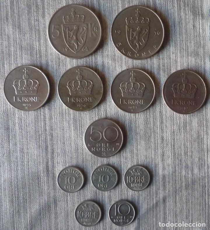 LOTE DE 12 MONEDAS DE NORUEGA (Numismática - Extranjeras - Europa)