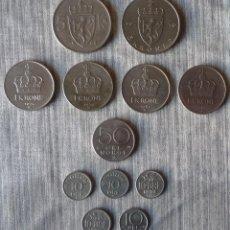 Monedas antiguas de Europa: LOTE DE 12 MONEDAS DE NORUEGA. Lote 110457751