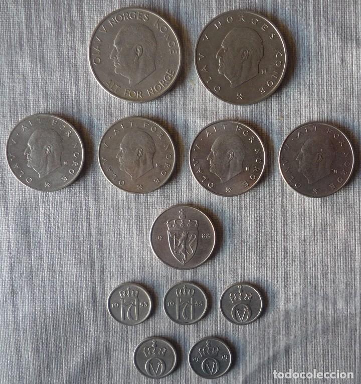 Monedas antiguas de Europa: LOTE DE 12 MONEDAS DE NORUEGA - Foto 2 - 110457751