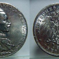 Monedas antiguas de Europa: MONEDA DE 3 MARCOS 1913 WILHELM II (PRUSSIA) LETRA A PLATA 16,70GR. Lote 110504547