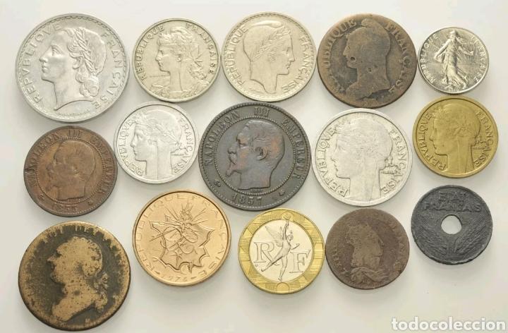 LOTE MONEDAS FRANCIA (Numismática - Extranjeras - Europa)