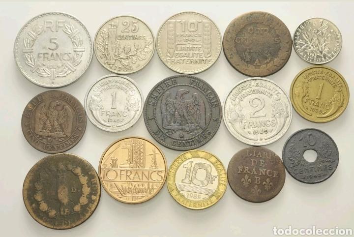 Monedas antiguas de Europa: Lote monedas Francia - Foto 2 - 110568410