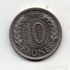Monedas antiguas de Europa: DINAMARCA. 10 CORONAS. AÑO 1979. SIN CIRCULAR.. Lote 110798463