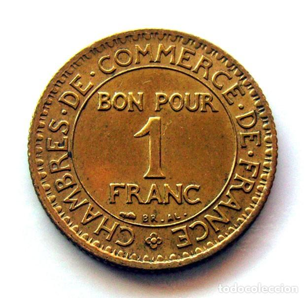 Monedas antiguas de Europa: MONEDAS DEL MUNDO . FRANCIA . 1 FRANC 1922 . CHAMBRE DE COMMERCE - Foto 2 - 110894519