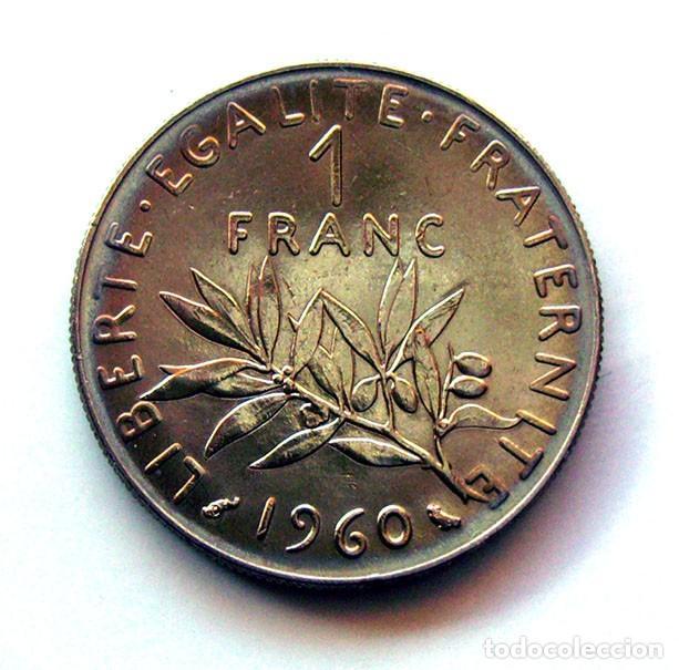 Monedas antiguas de Europa: MONEDAS DEL MUNDO . FRANCIA . 1 FRANC 1960 . EXCELENTE - Foto 2 - 110894875